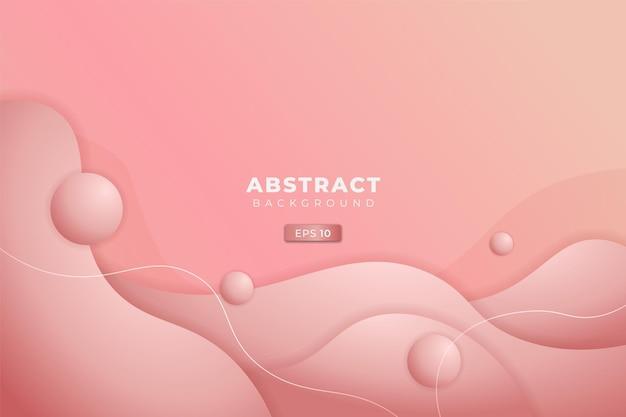 Abstracte achtergrond dynamische 3d-vloeistof zacht verloop helder roze pastelkleur