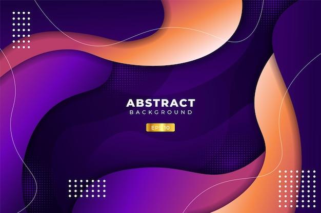 Abstracte achtergrond dynamische abstracte overlappende vloeiende vorm kleurrijke gradiënt