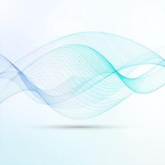 Abstracte achtergrond, futuristische blauwe golvende illustratie