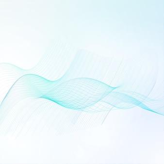 Abstracte achtergrond, futuristische blauwe golvende.