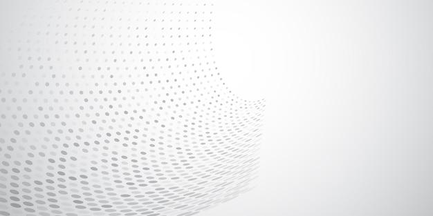Abstracte achtergrond gemaakt van halftoonpunten in witte en grijze kleuren
