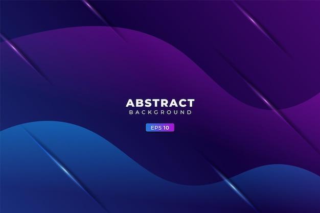 Abstracte achtergrond geometrische kleurrijke gloed gradiënt blauw en paars premium banner vector