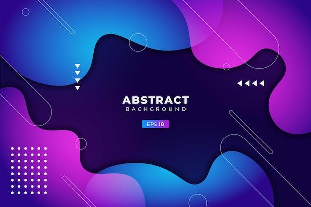 Abstracte achtergrond geometrische kleurrijke vloeiende gradiënt blauw en paars premium banner vector