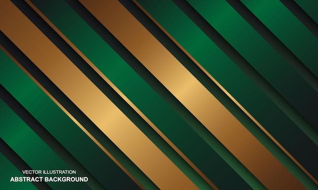 Abstracte achtergrond groen zwart met gouden lijnen