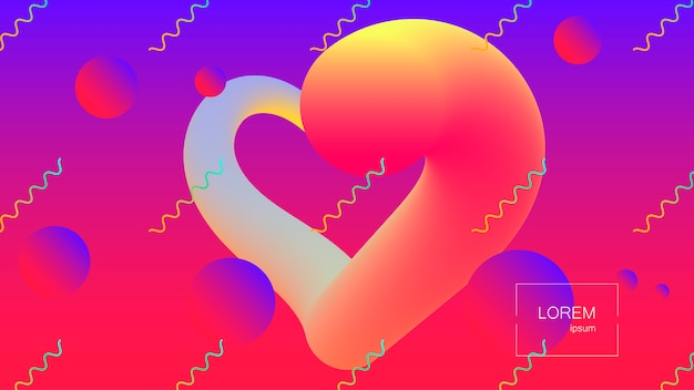 Abstracte achtergrond. heldere kleurrijke dynamische vormen