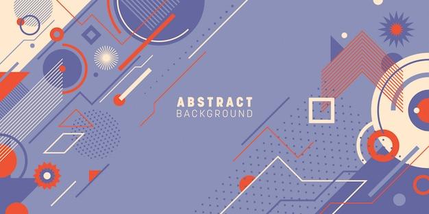Abstracte achtergrond in geometrische stijl