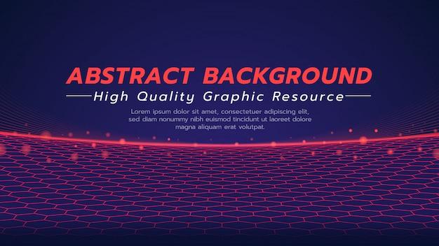 Abstracte achtergrond in technologie thema met zeshoek. de vloer in futuristisch systeemconcept.