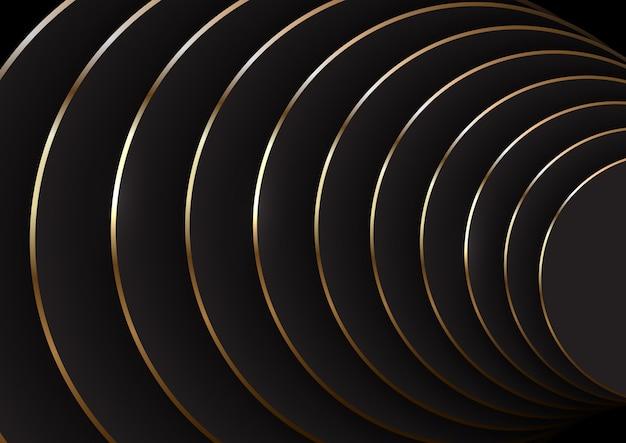 Abstracte achtergrond in zwart en goud
