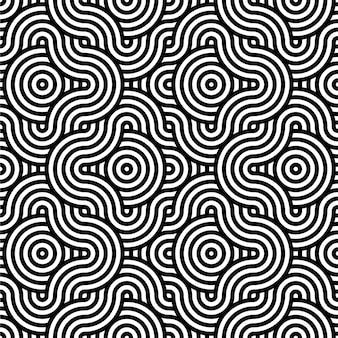 Abstracte achtergrond in zwart en wit met golvend lijnenpatroon