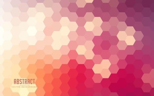 Abstracte achtergrond kleurrijke zeshoekige verlopen