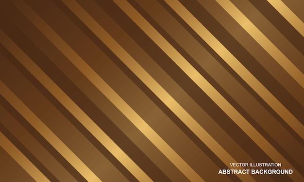 Abstracte achtergrond luxe gouden lijnen modern design
