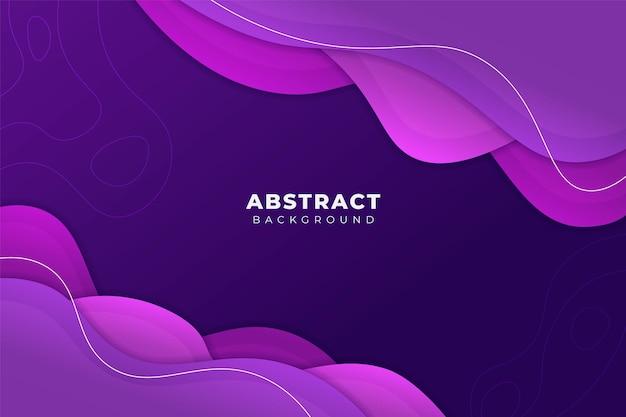 Abstracte achtergrond memphis-stijl overlappende vorm zacht verloop paars