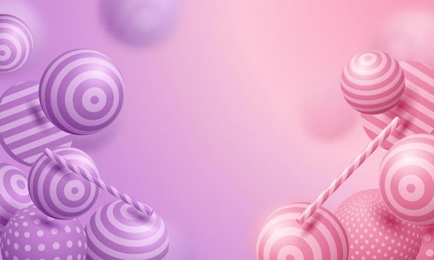 Abstracte achtergrond met 3d-bollen