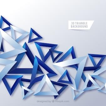 Abstracte achtergrond met 3d-driehoeken