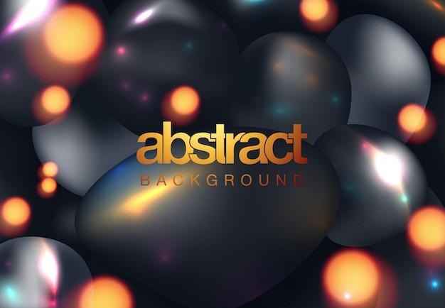Abstracte achtergrond met 3d gebiedencluster
