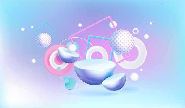 Abstracte achtergrond met 3d geometrische vormen