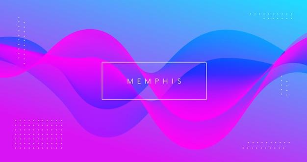 Abstracte achtergrond met 3d vloeibare golfvorm. modern minimaal patroon. futuristische kleurrijke geometrische achtergrond.