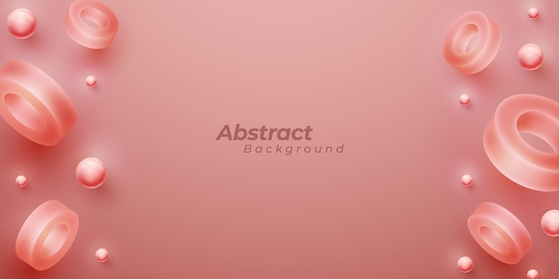 Abstracte achtergrond met 3d vormen.