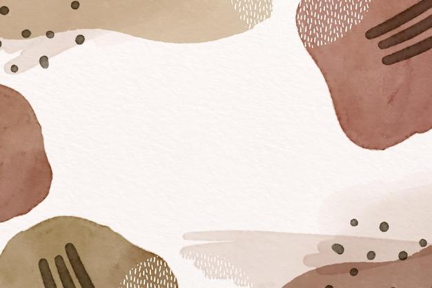 Abstracte achtergrond met aquarelvormen en lege ruimte