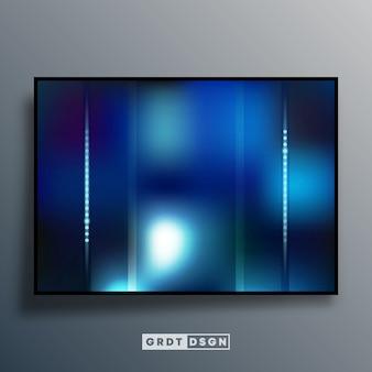 Abstracte achtergrond met blauw kleurverloop effect