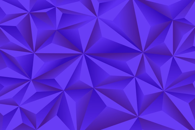 Abstracte achtergrond met blauwe 3d veelhoeken