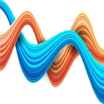 Abstracte achtergrond met blauwe en rode golvende vormen