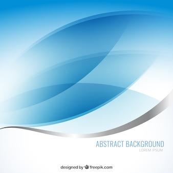 Abstracte achtergrond met blauwe golven Premium Vector