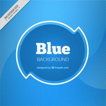 Abstracte achtergrond met blauwe halftoonpunten