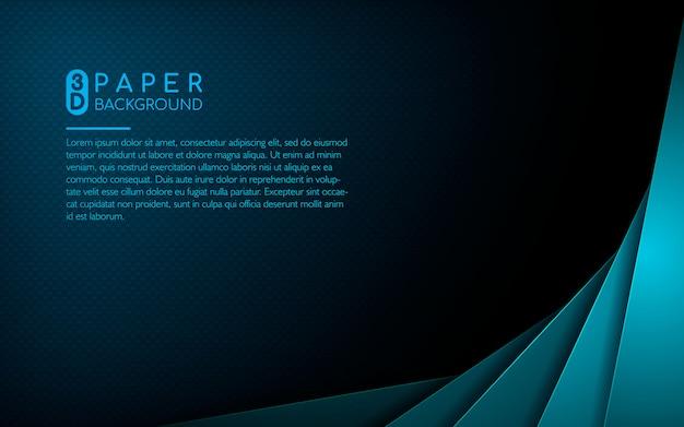 Abstracte achtergrond met blauwe overlappingslagen