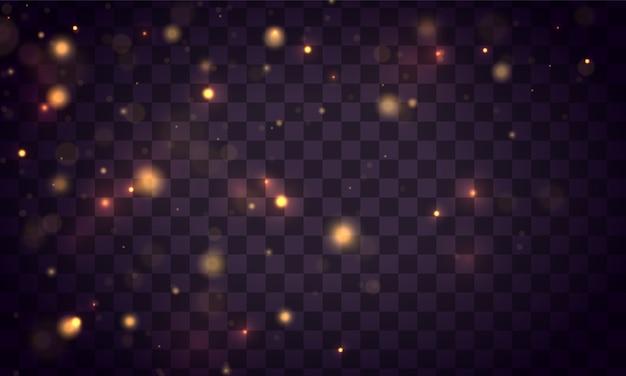 Abstracte achtergrond met bokeh-effect. sprankelend stof.