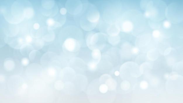 Abstracte achtergrond met bokeh-effecten in lichtblauwe kleuren Premium Vector