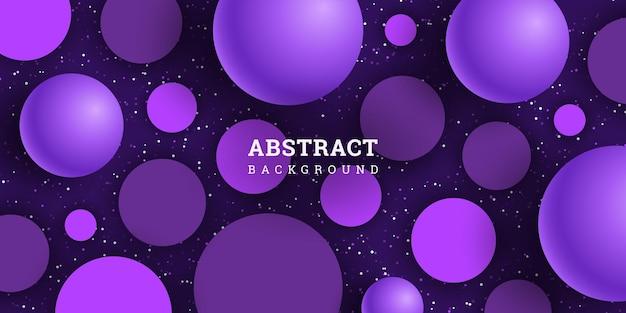 Abstracte achtergrond met bollen en cirkels