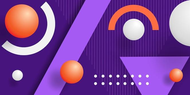 Abstracte achtergrond met bollen en geometrische vormen