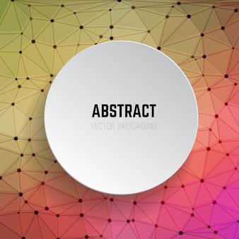 Abstracte achtergrond met cirkel