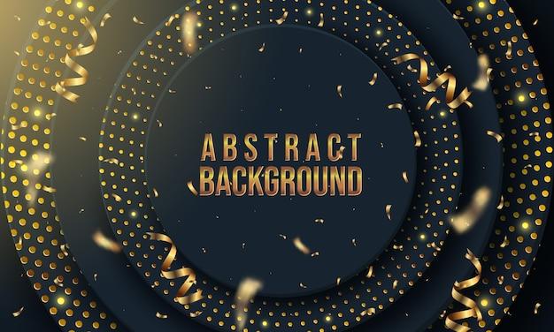 Abstracte achtergrond met cirkellagen en gouden glinsterende