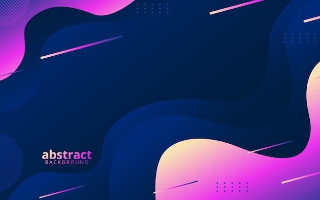 Abstracte achtergrond met diagonale dynamische lijnen en golvende vormen Premium Vector