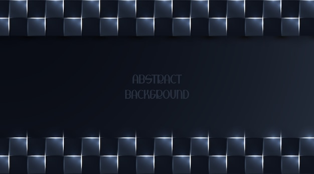 Abstracte achtergrond met donker vierkant licht