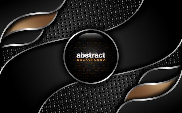 Abstracte achtergrond met donkere kleurenschema: laagstijl overlappen