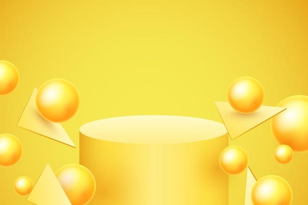 Abstracte achtergrond met dynamische 3d bollen