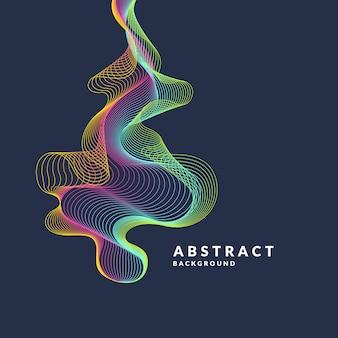 Abstracte achtergrond met dynamische golven, lijnen in een heldere kleurrijke stijl