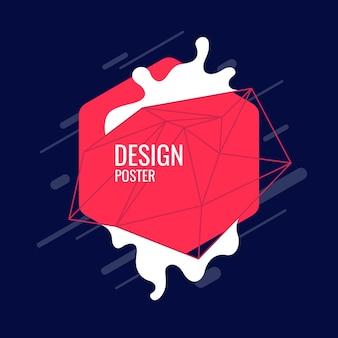Abstracte achtergrond met dynamische plons. vectorillustratie in platte minimalistische stijl