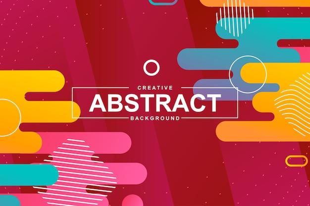 Abstracte achtergrond met dynamische vormen in de stijl van memphis.