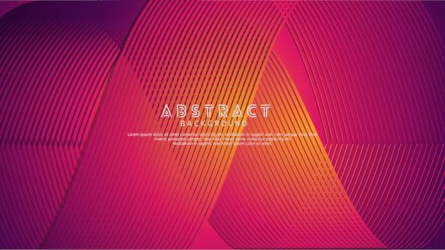 Abstracte achtergrond met een gekleurd dynamisch golven, lijnen en deeltjesornament.