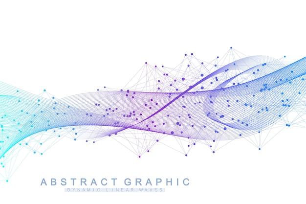 Abstracte achtergrond met een gekleurde dynamische golven