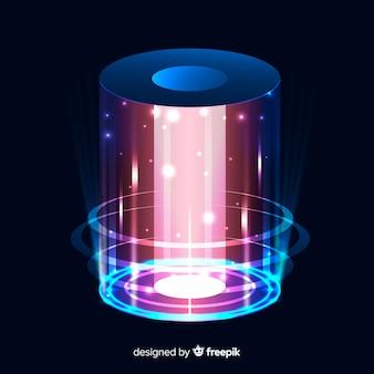 Abstracte achtergrond met een holografisch portaal