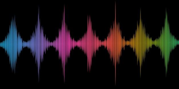 Abstracte achtergrond met een kleurrijk geluidsgolvenontwerp