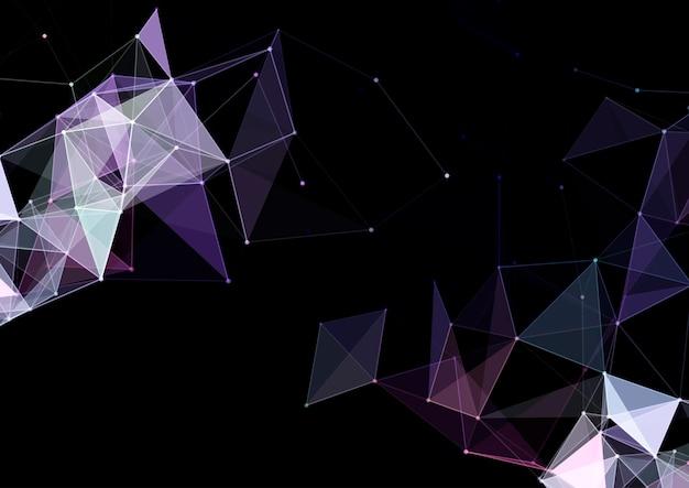 Abstracte achtergrond met een laag poly plexus ontwerp