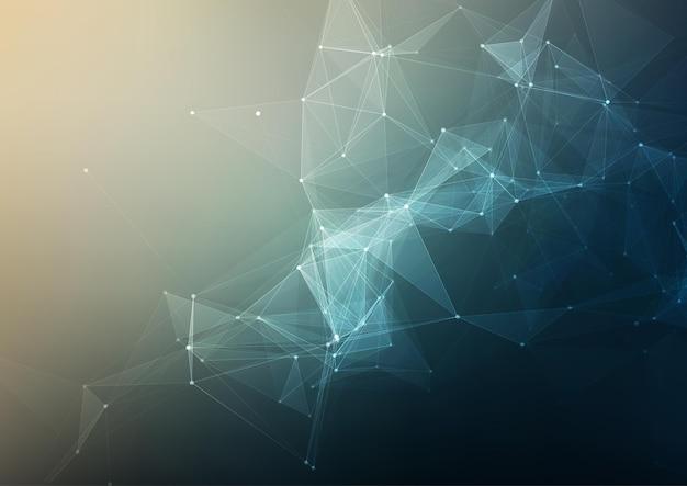 Abstracte achtergrond met een laag poly techno design