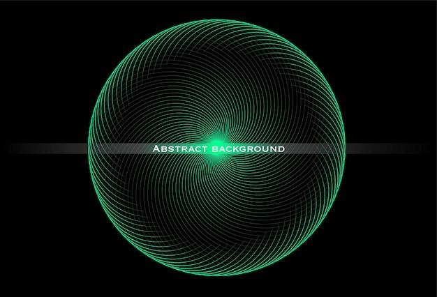 Abstracte achtergrond met een lineaire ronde swirl. sjabloon voor banner, omslag, folder, bestemmingspagina. kosmische stijl