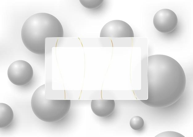 Abstracte achtergrond met een mat glaskader
